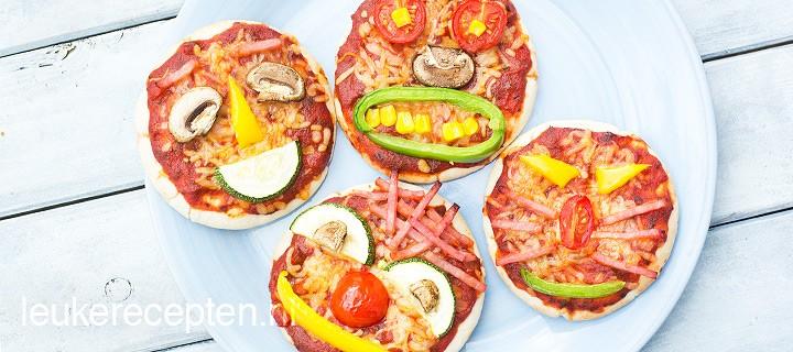 Mini pizza gezichtjes