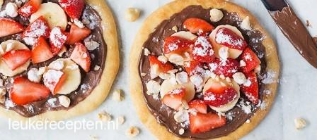 Mini Nutella pizza's met fruit